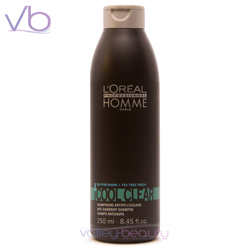 L'Oréal Homme Cool Clear Shampoo | Anti Dandruff Cleanser