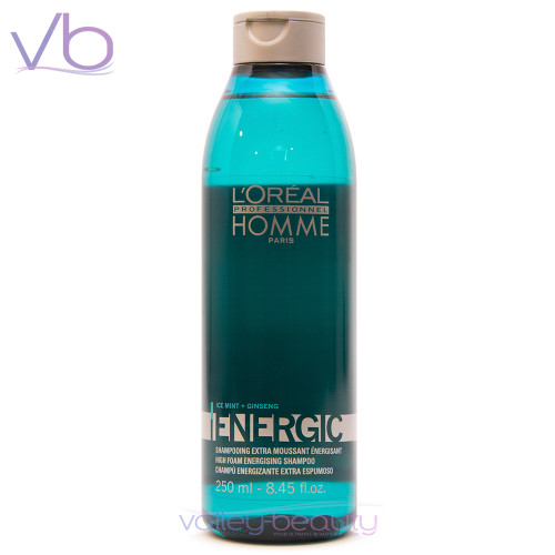 L'Oréal Professionnel Homme Energic Shampoo | High Foam Energizing Cleanser
