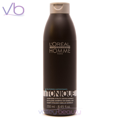 L'Oréal Homme Tonique Shampoo | Revitalizing Cleanser For Normal Hair
