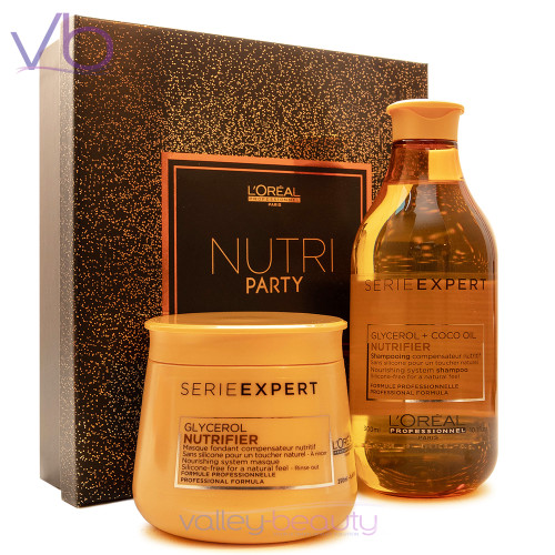 L'Oreal Nutrifier Nutri Party Set | Shampoo and Mask Gift Box