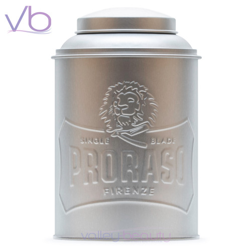 Proraso Metal Tin Box   Powder & Talc Dispenser