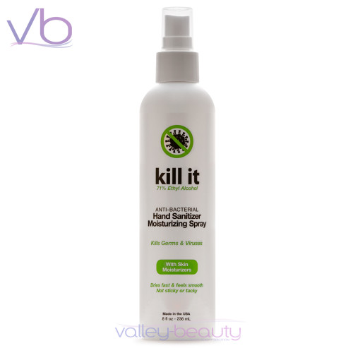 DermOrganic Kill It Hand Sanitizer Spray | Anti-Bacterial Mist