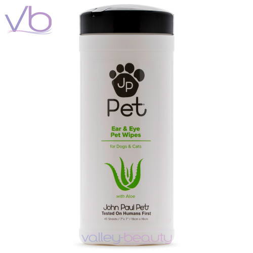 John Paul Pet Ear & Eye Wipes | Removes Tear Stains and Moist Build-up