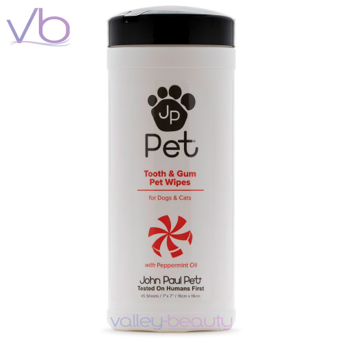 John Paul Pet Tooth & Gum Wipes | Removes Tooth Stains and Plaque Build-up