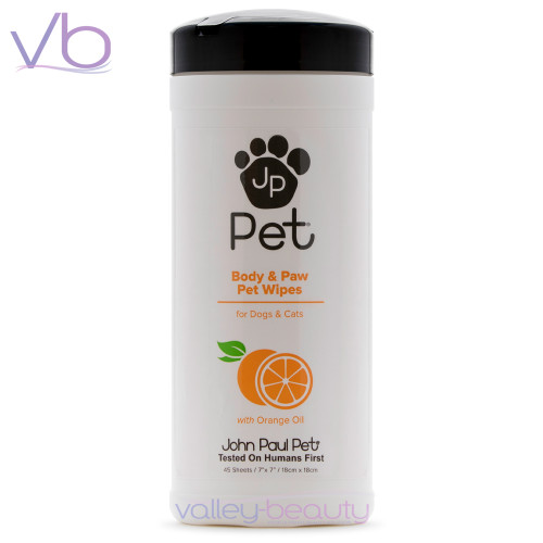 John Paul Pet Body & Paw Wipes | Removes Skin Flakes and Dirt Build-up
