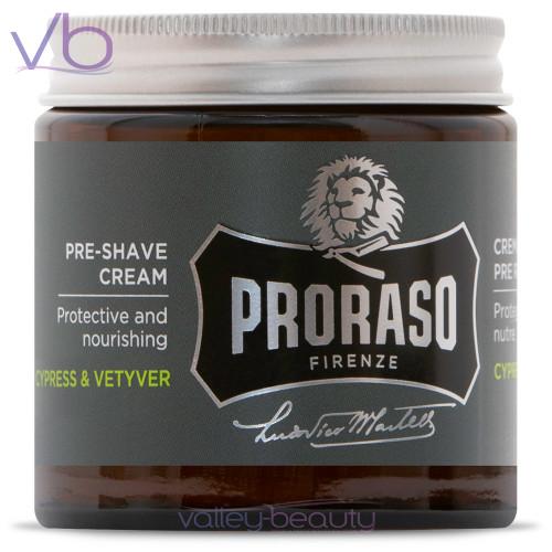 Proraso Single Blade Cypress & Vetyver Pre-Shave | Protective Preparation Cream