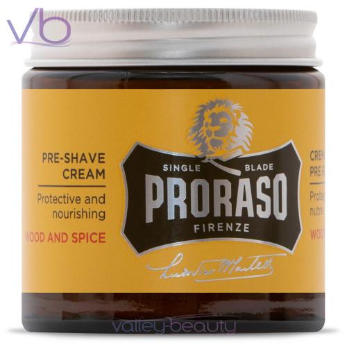 Proraso Single Blade Wood and Spice Pre-Shave | Protective Preparation Cream
