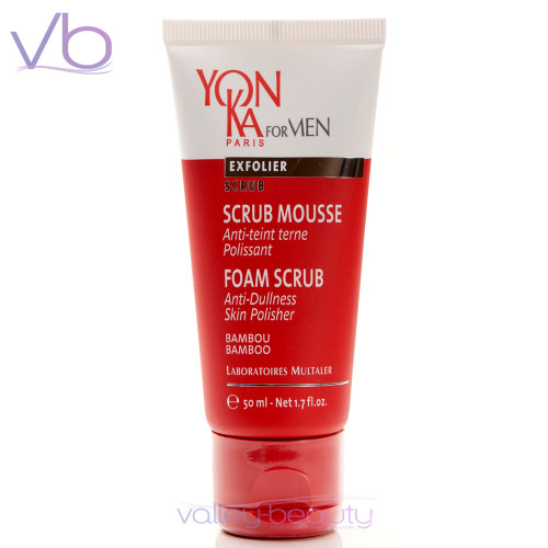 Yonka For Men Scrub Mousse | Anti-Dullness Exfoliating Skin Cleanser