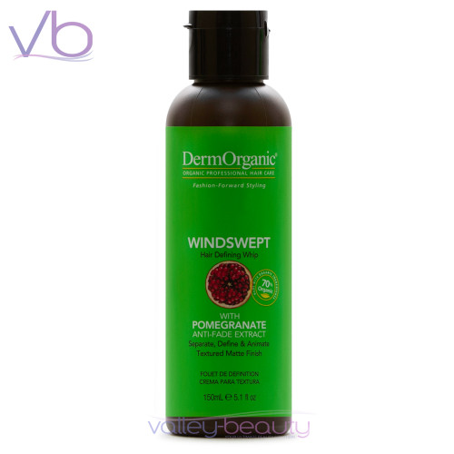 Dermorganic Windswept | Hair Defining Whip with Organic Argan Oil