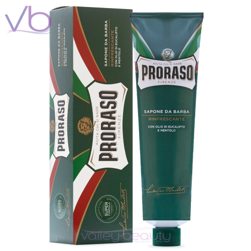Proraso Sapone Da Barba Rinfrescante | Shaving Cream for All Skin and Beard Types with Eucalyptus