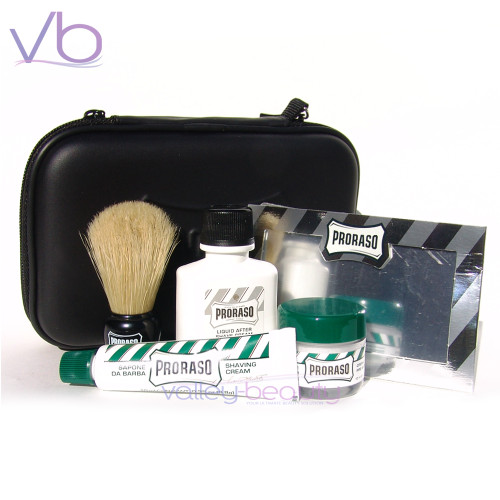 Proraso Shave Travel Kit | Zipper Bag Engraved with Proraso Logo