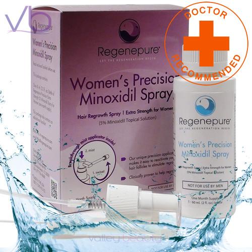 RegenePure Extra Strength Hair Regrowth Minoxidil Spray For Women