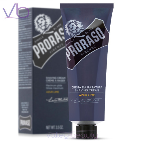 Proraso Azur Lime Shaving Cream | Highly Concentrated Formula for Single Blades