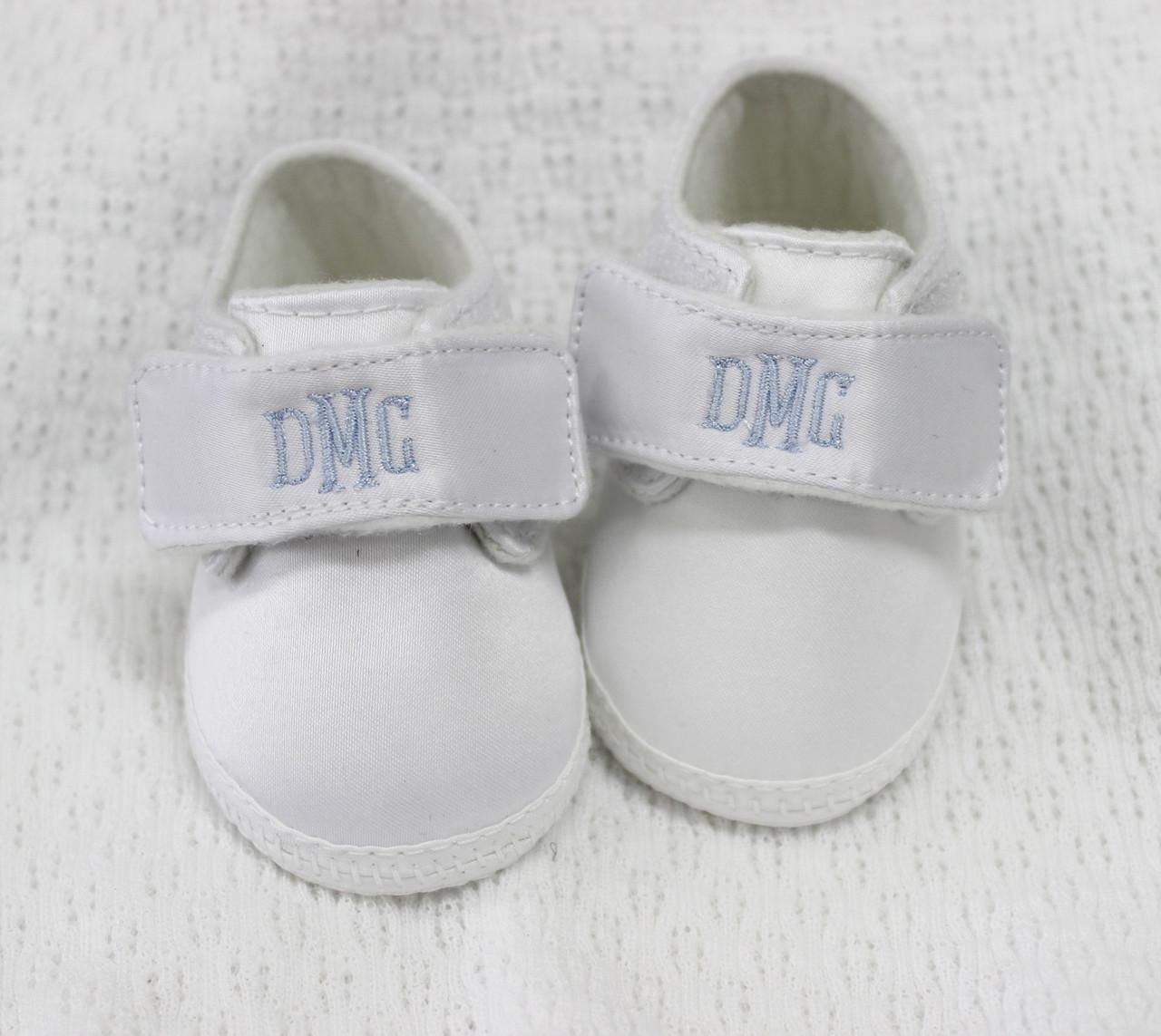 White Satin Baptism Christening Shoes