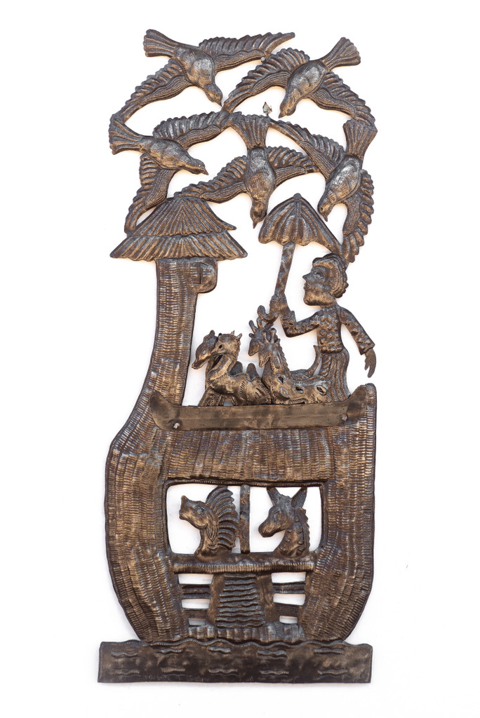 Noah's Arc, Noah, The Great Flood, Animals, Creation, Biblical, Bible, Religious, Story, Nursery, One-of-a-Kind, Handcrafted, Handmade, Recycle, Recyclable