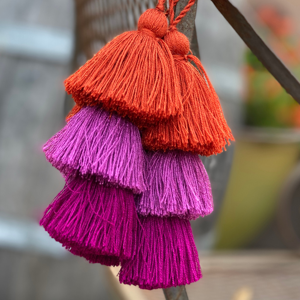 Fall Festive Tassels, 3 Layered, Decorative Keepsake Embellishments, Arts and Crafts, Christmas Giving 1.5 x 8 Inches