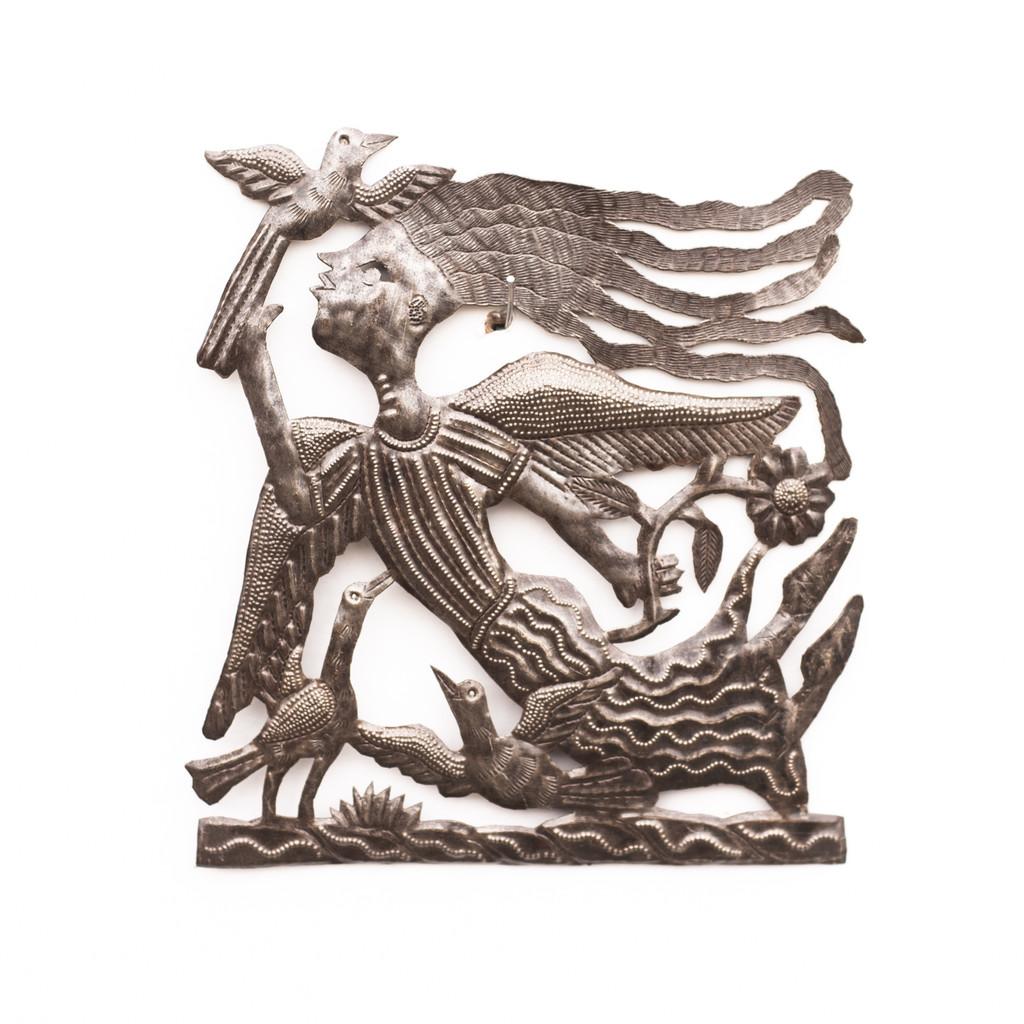 Angel, Angelic, Guardian Angel, Angel's Wings, Garden Angel, Birds, Handmade, Handcrafted