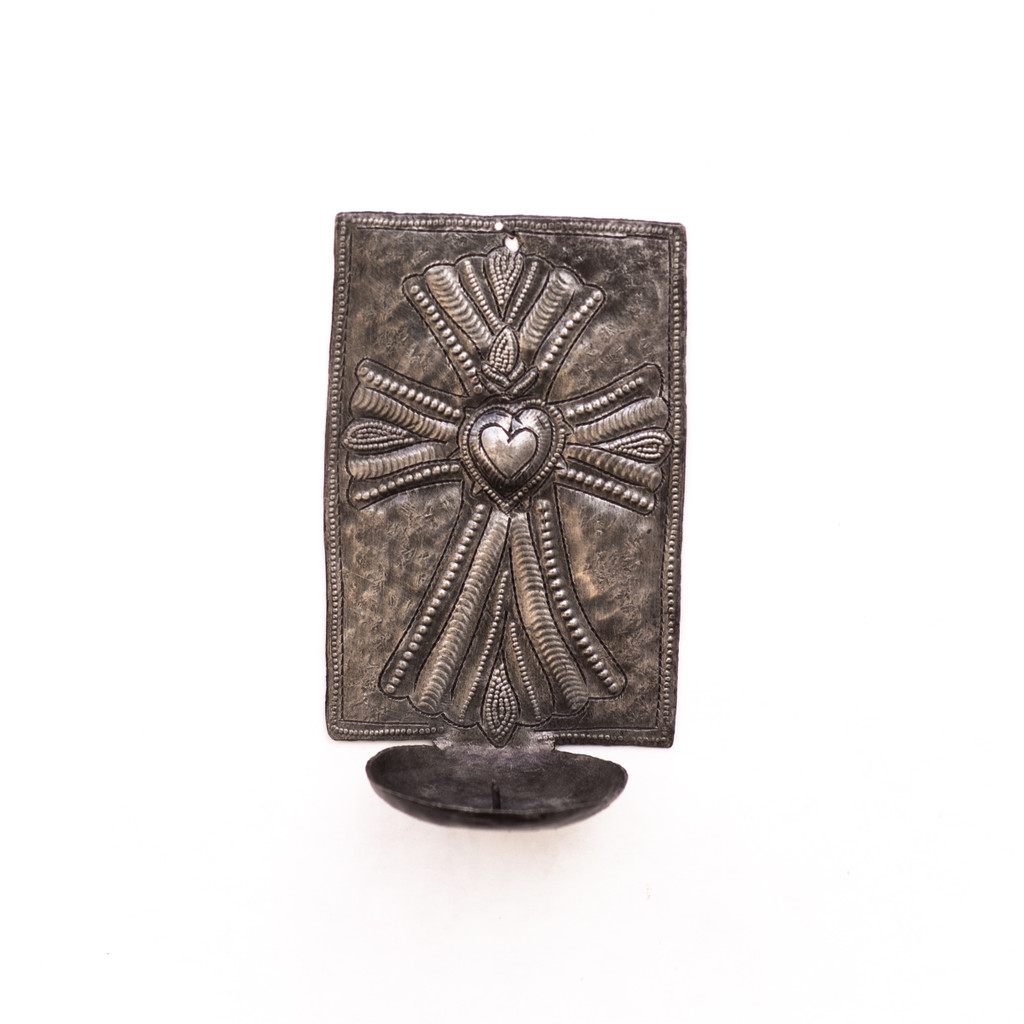 Candle Holder, Candles, Cross, Religious Candle Holder