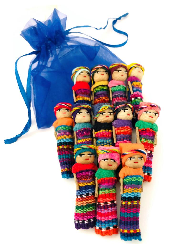 2 Inch Worry Dolls Handmade Friendship best friends Guatemala