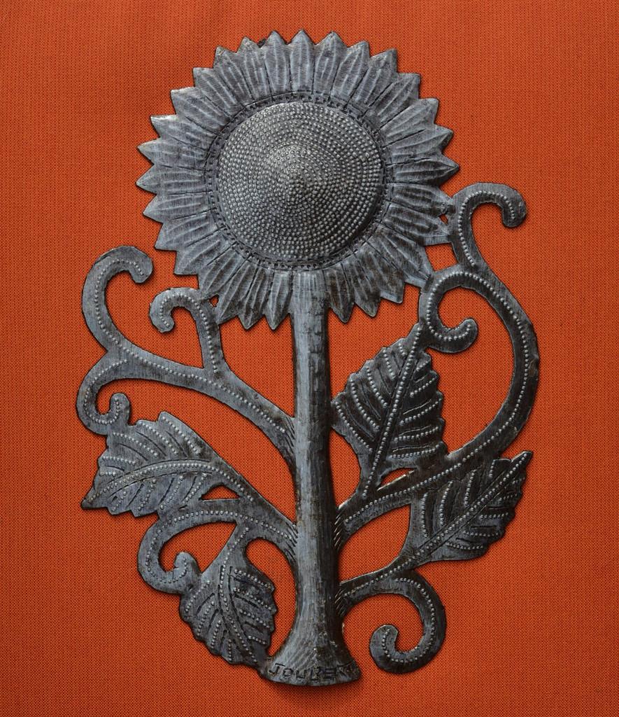 summer garden metal flowers haiti metal art
