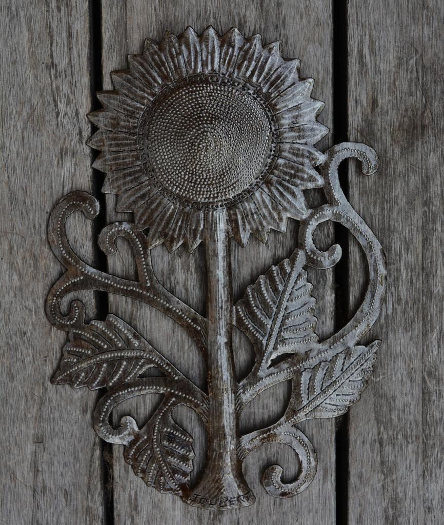 metal garden sunflower wall art