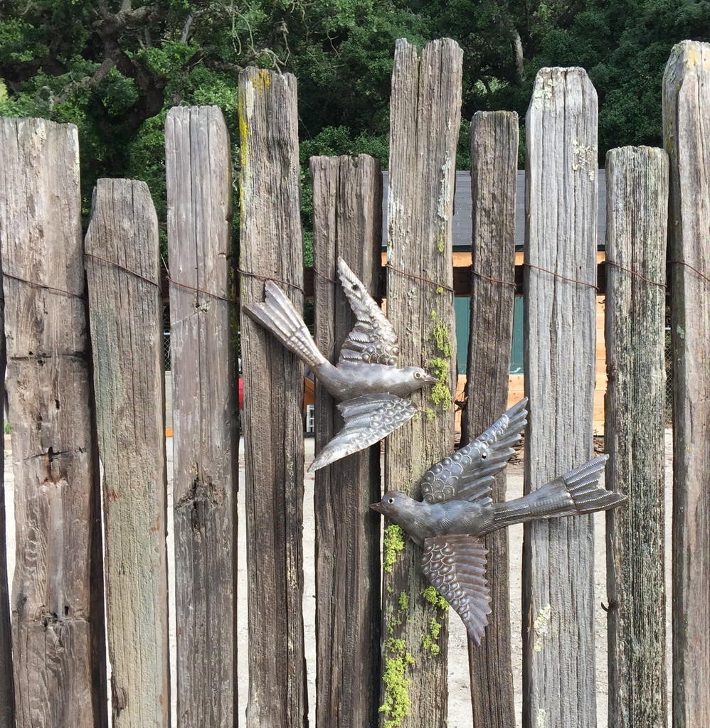 """3-D Birds, Haitian Metal Birds, Indoor and outdoor (set of 2) 11"""" x 12"""""""