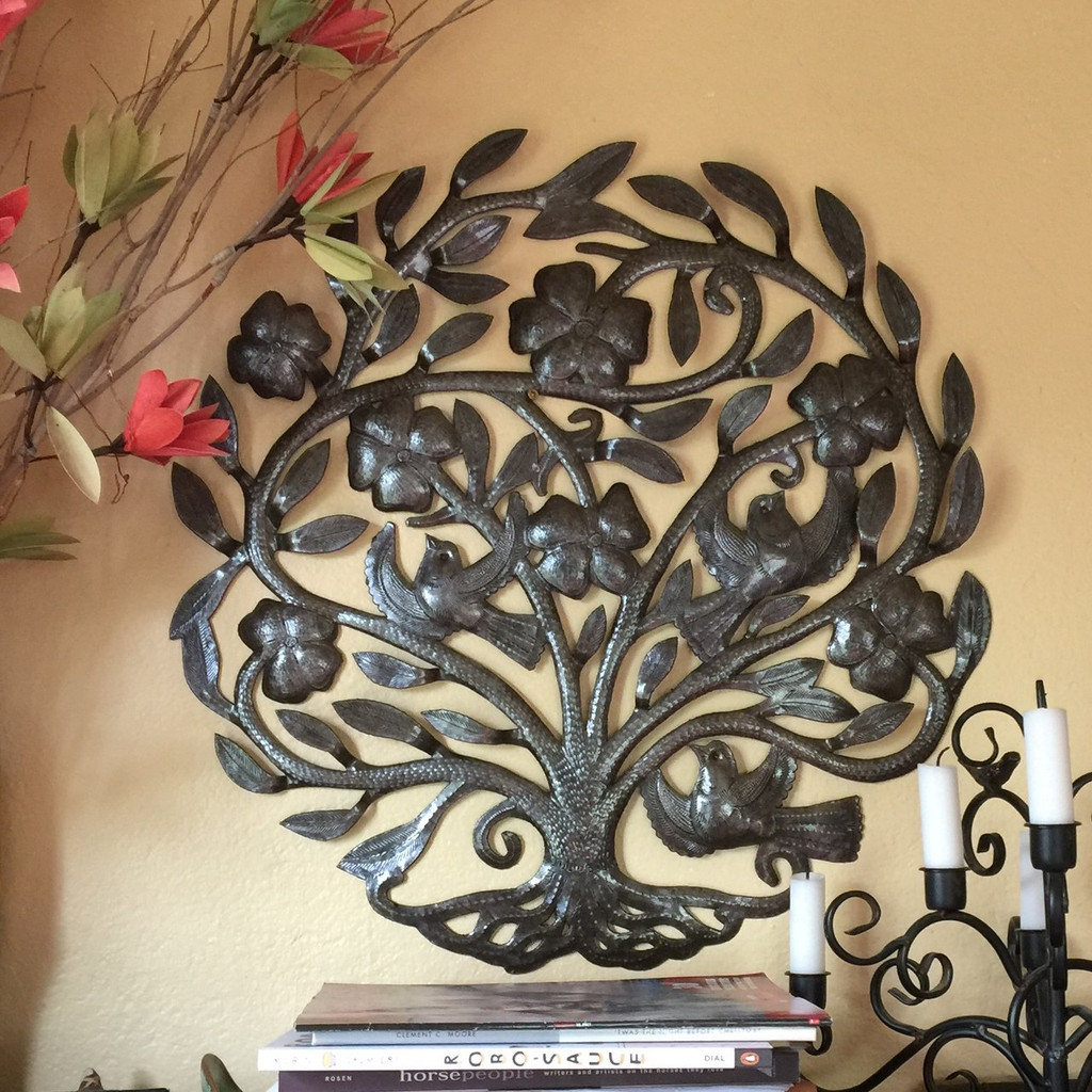 RECYCLED HAITIAN FOLK ART FOR THE HOME