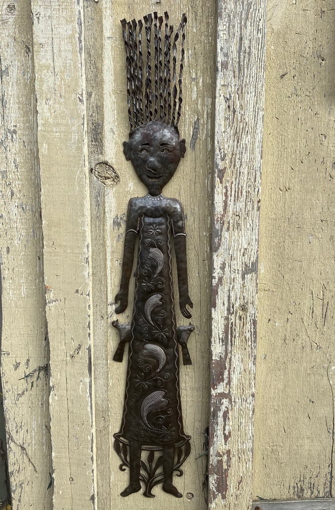 Whimsical Wall Décor, Girlfriend's Statue, Indoor Outdoor Decorations, Spring Garden Collection, Haitian 7 x 41 Inches