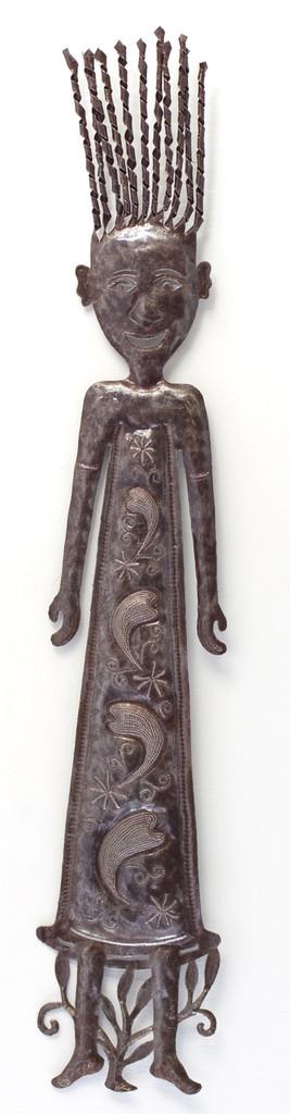 haiti folk art girl handmade