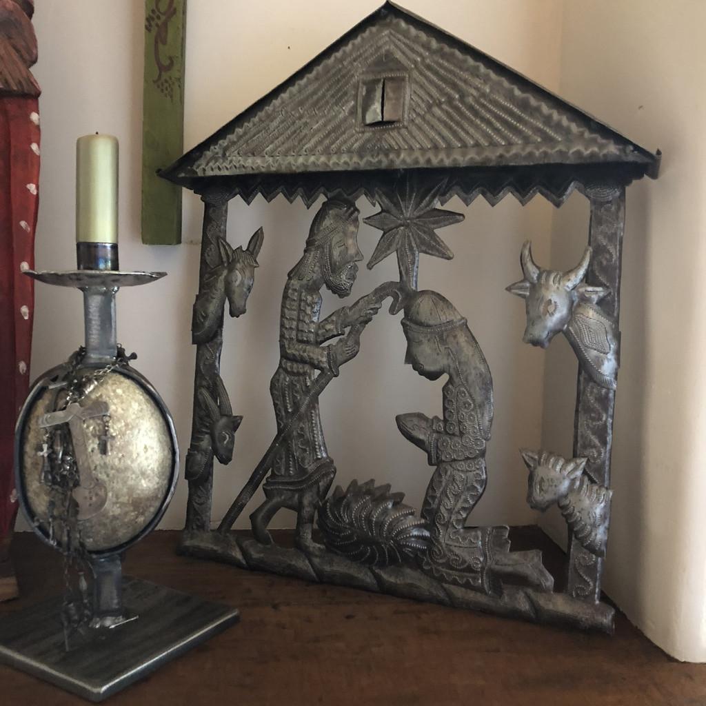 Haiti metal nativity Fair Trade Federation Metal Art Living with Folk Art