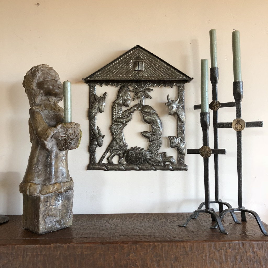 Haiti metal nativity Fair Trade Federation Metal Art Religious art