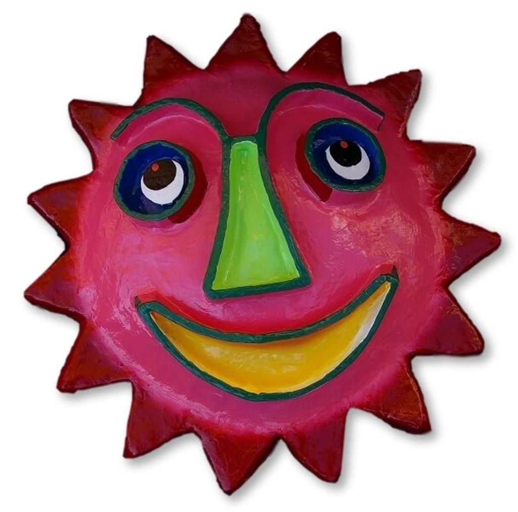 paper mache sun, recycled sun