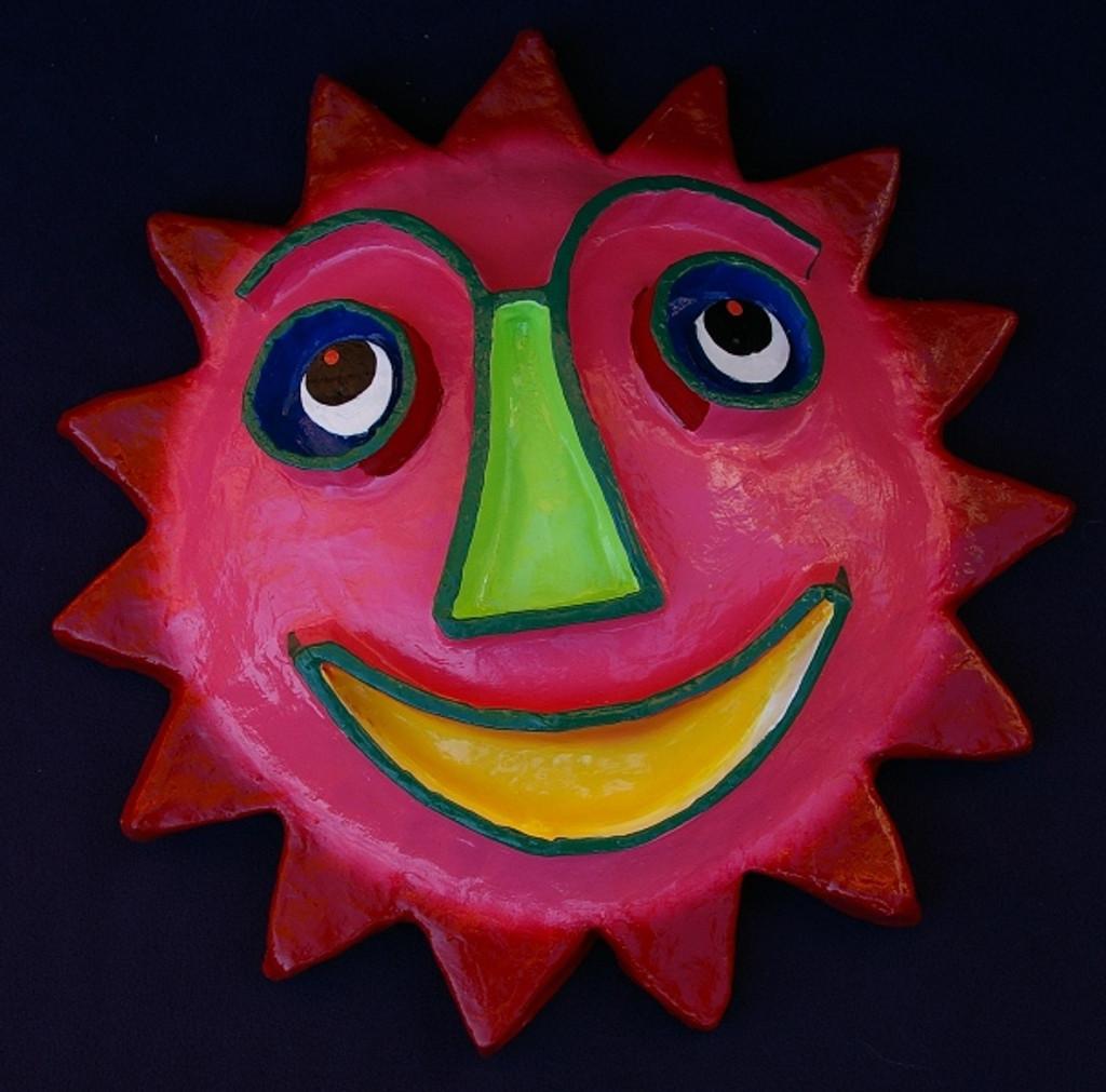 Paper Mache Sun Face