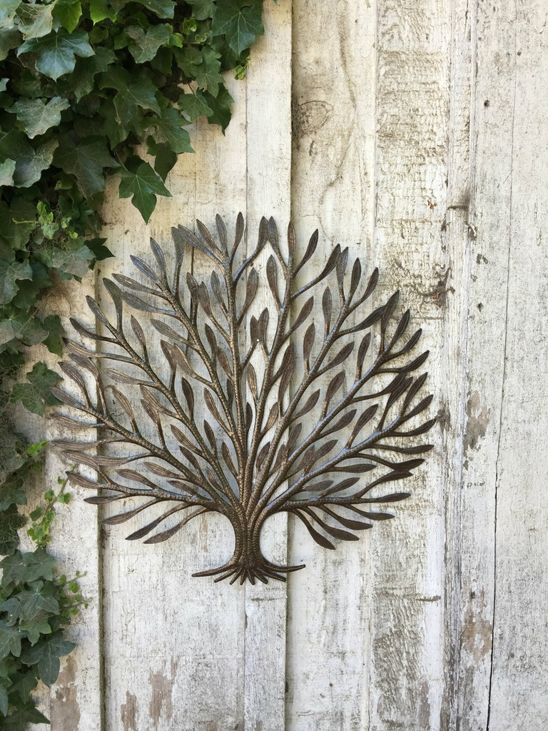 TREE OF LIFE HAND CUT IN HAITI RECYCLED