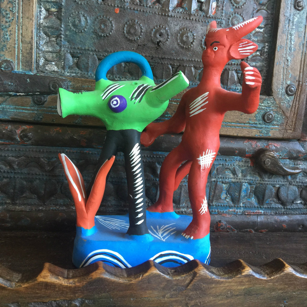 hand made devil sculptures Mexico Ocumicho