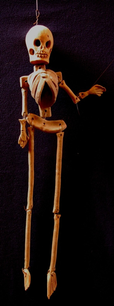 low fired ceramic hanging skeleton , Day of the Dead Decor, Folk Art, Dia de Los Muertos