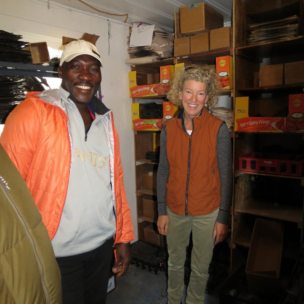Cineus Louime doing an Exhibition in California, Fair Trade Haiti Artists