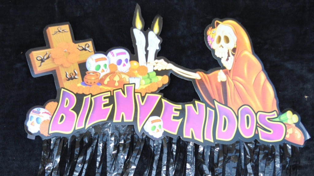 day of the dead banner, feliz dia de muertos
