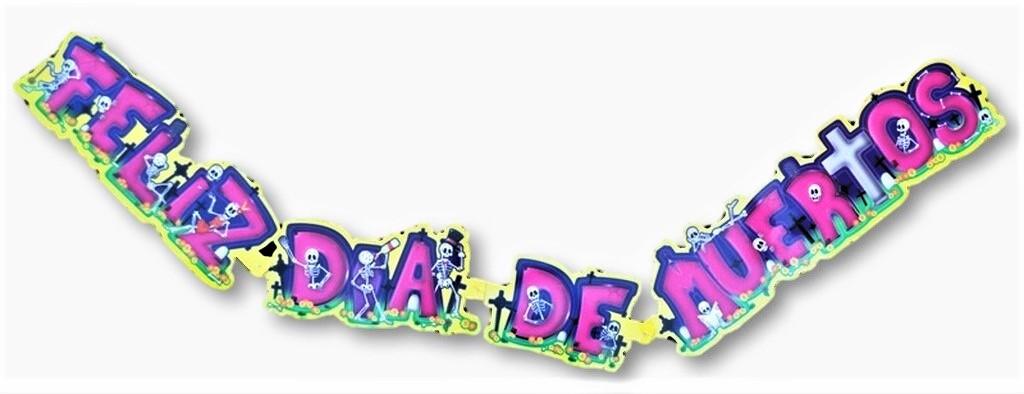day of the dead banner, feliz dia de muertos