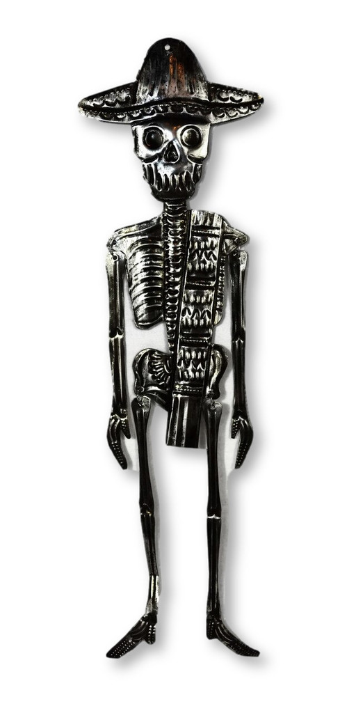 Day of the dead tin Skeleton from Oaxaca Mexico