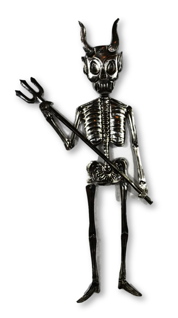 Day of the dead tin Skeleton Devil from Oaxaca Mexico