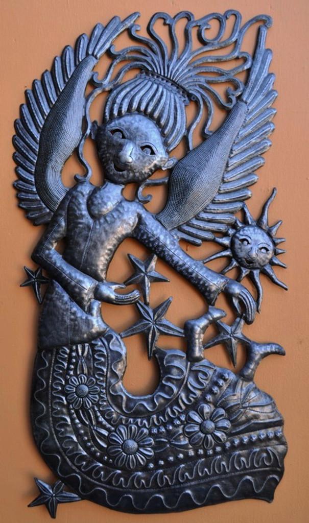 Steel Angel with Sun Joyful
