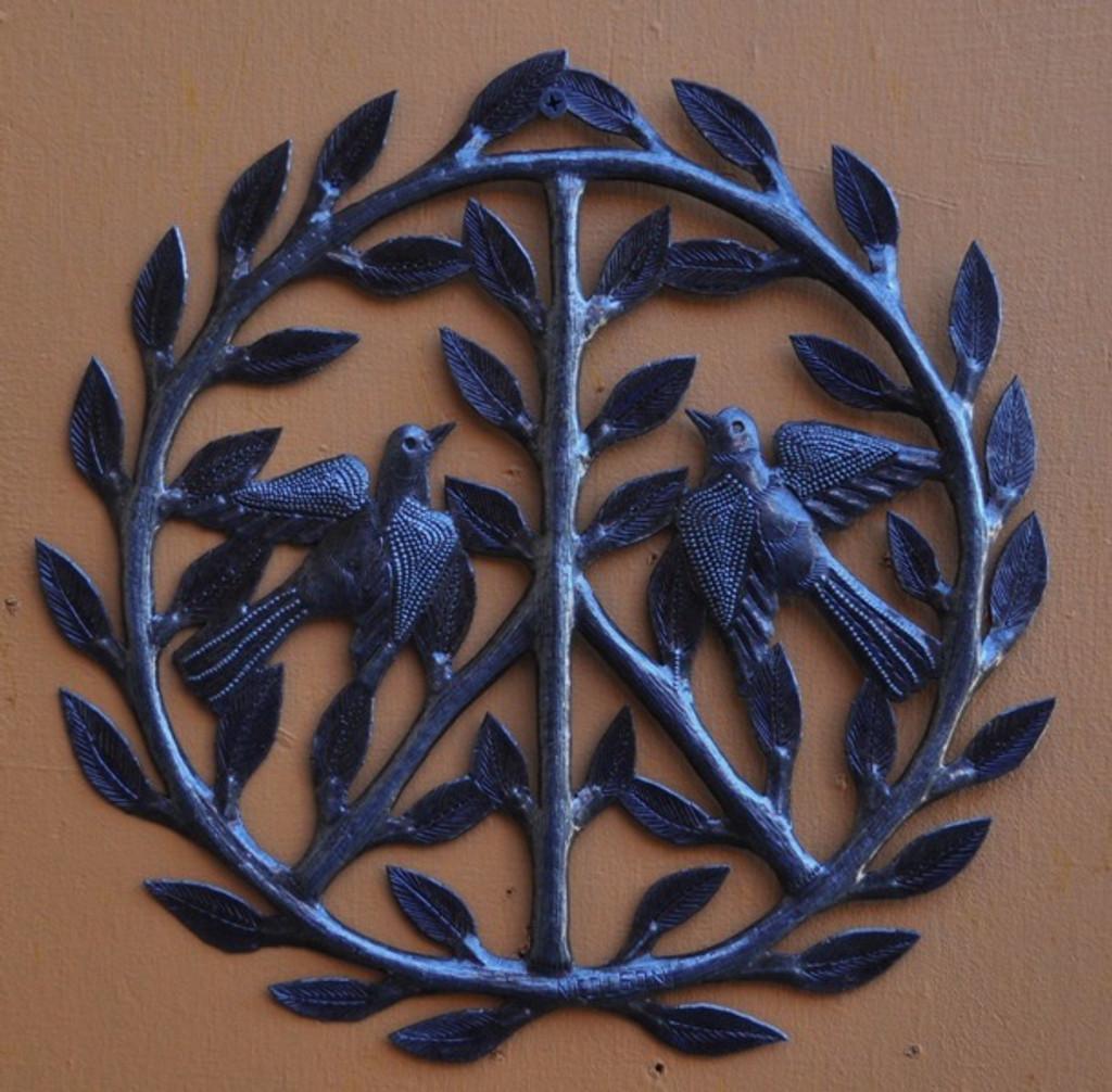 Haiti Metal Peace Sign, Wall Decor It's Cactus Metal Art Haiti