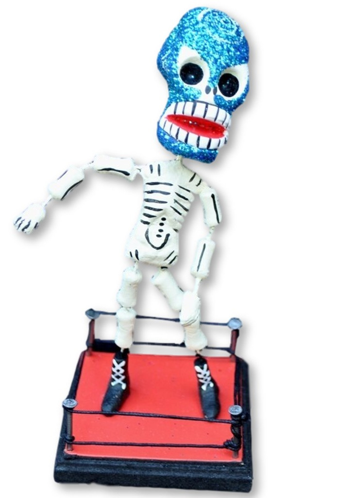 day of the dead, Dia de los Muertos Wrestler, bendable figure