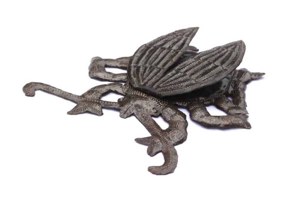 metal garden beetles Haitian metal art
