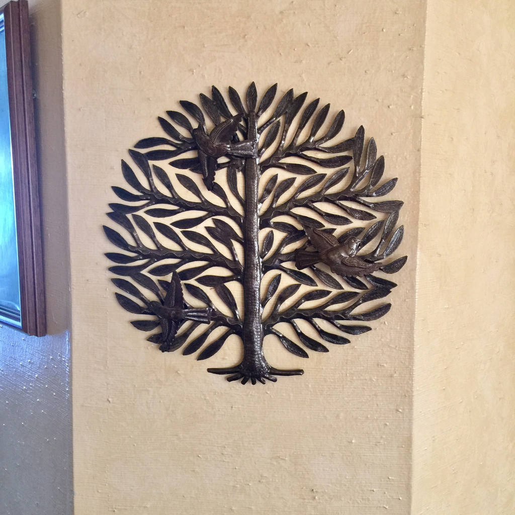 folk art from recycled haitian metal barrels
