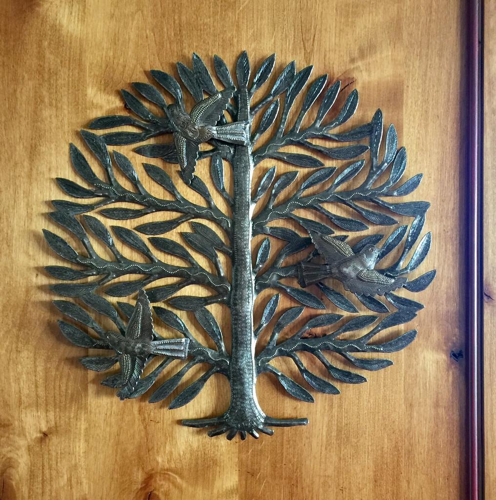handmade haitian metal art