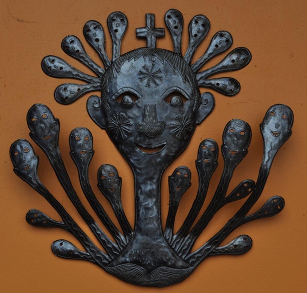 voodoo metal art- recycled steel -