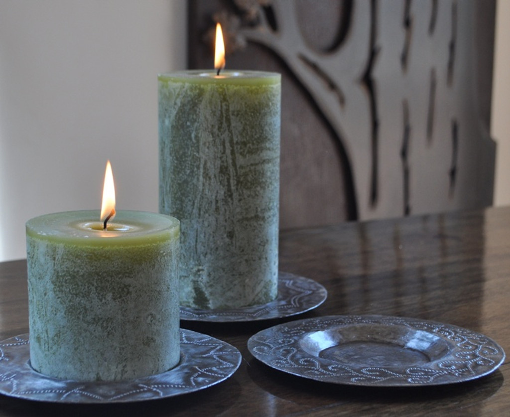 "Candle Plates  SM363 (set of 3) 6"" x 6"""