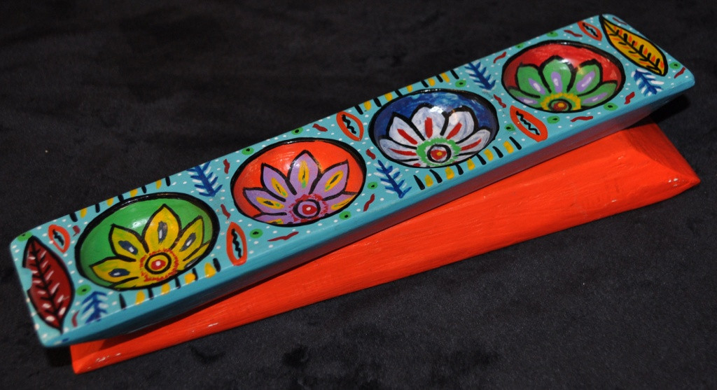 "Guatemalan Hand Painted Sugar Molds 12.25"" X 2.75"""
